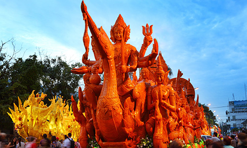 The-Candle-Festival,-Ubon-Ratchathani
