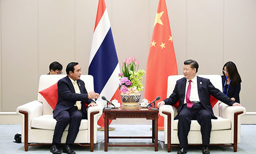 Prayut Chan-o-cha and Xi Jinping at G20 - photo MFA 02-500