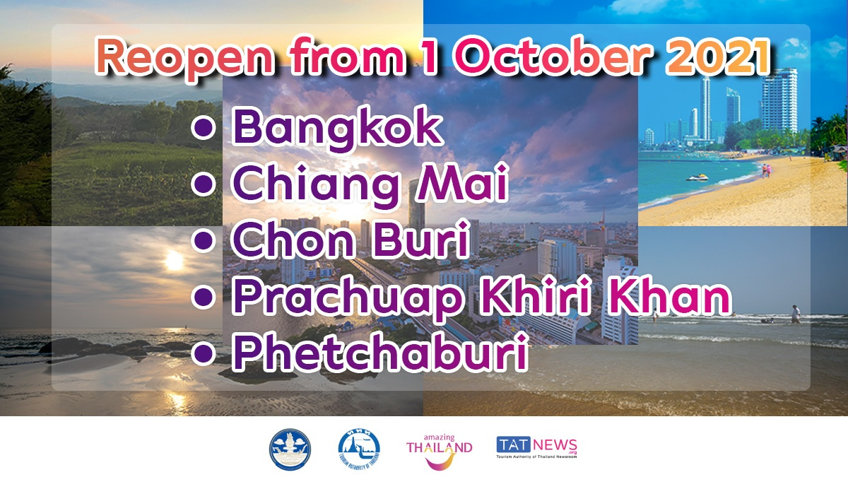 Thailand to reopen 5 more destinations to vaccinated foreign tourists from 1 October
